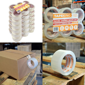 Adhesive Industrial Clear Tape King Packing Boxes Heavy Duty 60 Yards 36 Rolls
