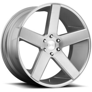 4 Dub S218 Baller 22x9 5 6x5 5 31mm Silver Wheels Rims 22 Inch
