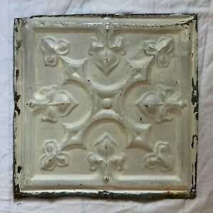 1890 S 12 X 12 Antique Tin Ceiling Tile Taupe Metal Reclaimed 61 19