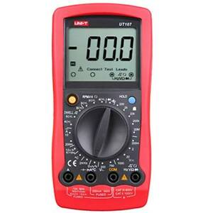 Uni t Ut107 Battery Test Car Multimeter Handheld Digital Lcd Measurement Tester