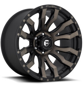 5 Fuel D674 Blitz 17x9 5x127 5x5 1mm Black Machined Tint Wheels Rims