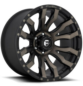 5 Fuel D674 Blitz 20x9 5x127 5x5 1mm Black Machined Tint Wheels Rims