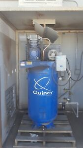 Quincy Compressor Reciprocating Air Compressor 5hp 80v 80 gal V Tank
