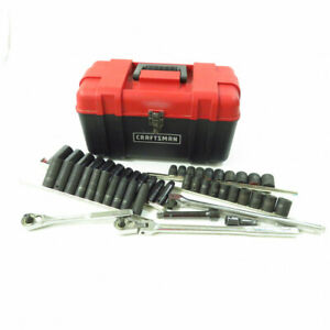 Craftsman Assorted Socket And Ratchet Set In Toolbox