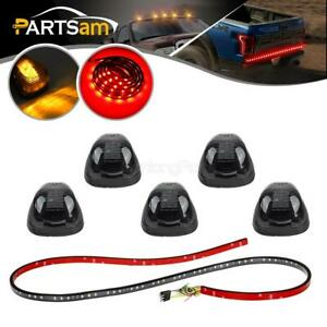 5x Cab Marker Light Smoke Amber Led 60 Tailgate Led Light Strip For 99 16 Ford