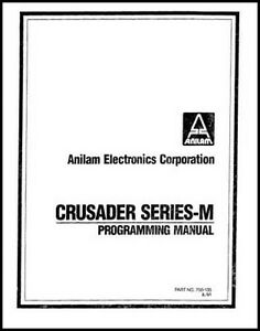 Anilam Crusader Series M Cnc Programming Manual