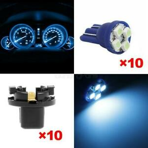 10x Ice Blue T10 Pc168 3528 Smd Instrument Dash Bulb 16mm Sockets For Plymouth