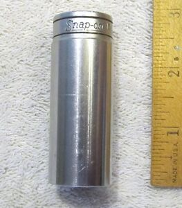 Vintage Snap On Tools 3 8 Drive 12 Point Deep 13 16 Socket Sf 261 Made In Usa