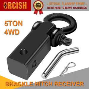 Orcish Recovery Hitch Receiver 5 Tonne Rating With Bow Shackle Tow Bar Off Road