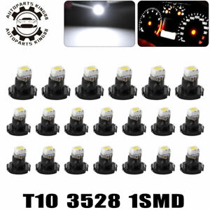 20x Pure White T3 1206 Smd Led Instrument Panel Dash Gauge Interior Lights Bulbs