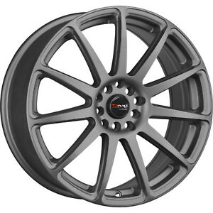 15x7 5 Gray Drag Dr66 Wheels 4x100 4x4 5 10 Fits Ford Mustang 4 Lug Only