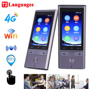 Smart 75 Language Real Time Voice Translator Wifi gps bluetooth Travel Meeting