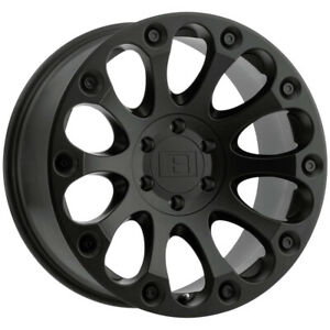 4 Level 8 Impact 15x8 5x127 5x5 24mm Matte Black Wheels Rims