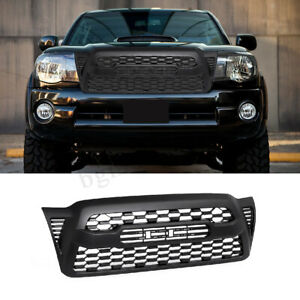 Front Bumper Hood Grille Grill Matte Black W Logo For 2005 2011 Toyota Tacoma Us