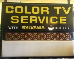 Vintage Color Tv Sylvania Illuminated Lighted Sign
