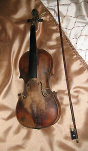 Antique Ole Bull Fiddle Violin Case Early 1900s Musical String Instrument Usa