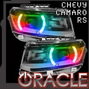 2014 2015 Chevy Camaro Oracle Lighting Smd Colorshift Halo Kit For Headlights