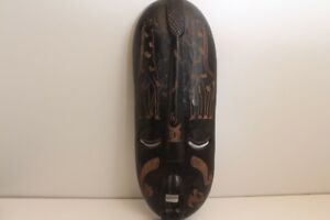 Large African Mask Wall Mask Decorative Wall Africa Wood 34 5 16in