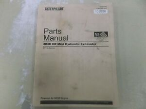 Caterpillar Cat 303c Cr Mini Hydraulic Excavator Parts Catalog Manual Bxt1 up