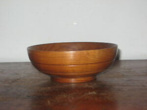 Old Wooden Turned Bowl Treen