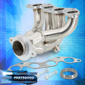 Stainless Racing Manifold Header Exhaust For 01 05 Honda Civic Ex D17 1 7