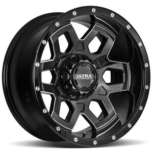18 Inch Ultra 217bm Warlock 18x9 5x5 5x5 5 1mm Black Milled Wheel Rim