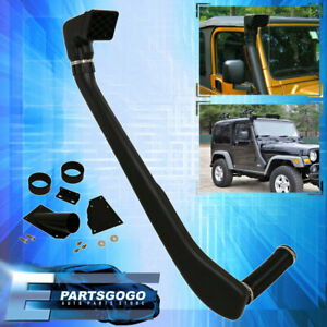 For 1999 06 Jeep Wrangler 4x4 Tj Yj Snorkel Ram Air Intake System Off Road Black