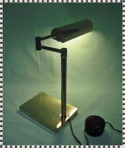 Vintage Mid Century Modern Brass Articulated Swing Arm Adjustable Desk Lamp