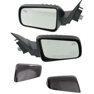 Power Mirror For 2008 2011 Ford Focus Heated 2 Caps paintable And Black Set Of 2