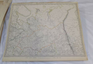 1835 Antique Color Sduk Map Russia In Europe Part 2