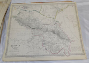 1835 Antique Color Sduk Map Russia In Europe Part 9