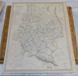 1840 Antique Color Sduk Map Russia In Europe Part 10 General Map Of Area