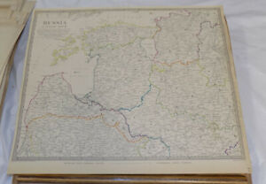 1834 Antique Color Sduk Map Russia In Europe Part 3