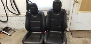 10 15 Camaro Ss Black Ebony Leather Seats Front Only Dual Power