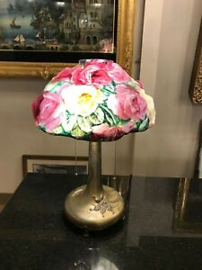 Pairpoint Puffy Rose Lamp Original Circa 1920 Pairpoint Mfg Co P 3033 Over 19in