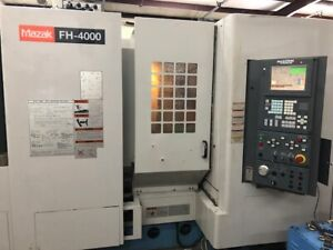 Used Mazak Fh 4000 Cnc Horizontal Mill 2001 Fusion 80 Tools Tsc Chip