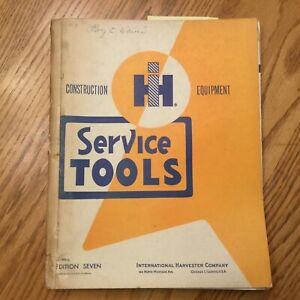 Ih International Service Shop Tools Manual Handbook Guide Maintenance Equipment