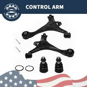 2 Front Control Arm 2 Lower Ball Joint For 2001 2002 2003 2004 2005 Honda Civic