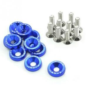Password Jdm Fender Washers Blue 10 Pieces Bumper Washer Fast Usa Shipping