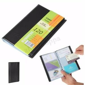 120 Leather Cards Business Name Id Credit Card Holder Book Case Keeper Organizer