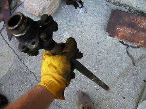Farmall A Tractor Original Ih Main Transmission Drive Shaft With Coupler Joints