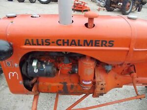 Allis Chalmers B Tractor Ac Nice 4 Hole Engine Motor Hood Cover kk