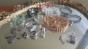 Huge Lot Sterling Silver Scrap Jewelry Coins Pearls Vintage Broke Jewelry 190 Gr