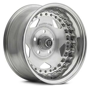 Center Line Convo Pro Wheels 15x7 6 5x120 65 81 Silver Rims Set Of 4