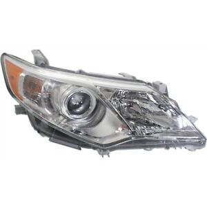 Headlight For 2012 2014 Toyota Camry Right W Amber Turn Signal Light