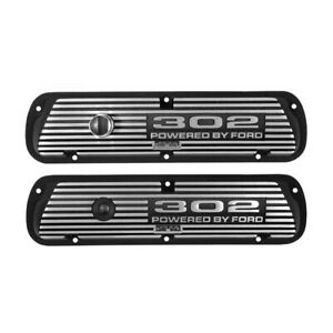 Scott Drake Valve Covers 302 Powered By Ford Black Wrinkle