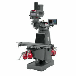 Jet 690153 Jtm 4vs Mill 3 axis Acu rite 200s Dro Quill X Y Z axis Feeds Draw Bar
