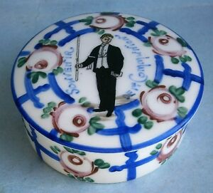 Hand Painted French Porcelain Trinket Box From The Early 1900 S