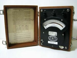 Weston Portable High Frequency Volts Voltmeter Meter Model 341 Used