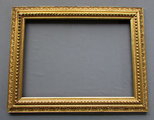 Antique 19th Century Aesthetic Movement Gilt Wood Gesso Picture Frame 1870